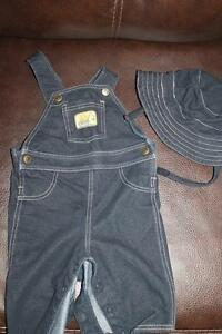 overalls and matching hat 3-6 months