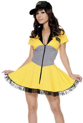 TAXI Driver Women Mini Dress Halloween Costume by Hollywood Style Small  - Taxi Driver Halloween Costume
