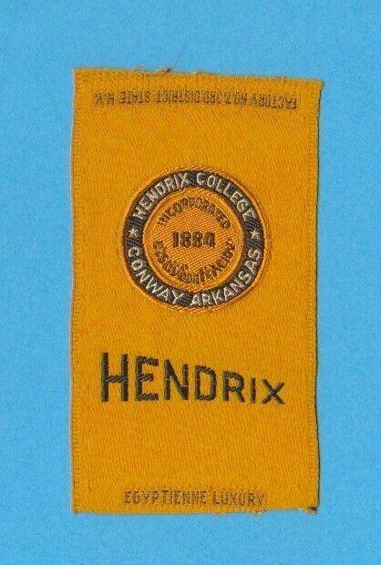 1910s S25 tobacco / cigarette / college silk  HENDRIX COLLEGE  - NICE!!