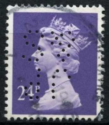 "GB QEII Definitive 24p With Perfin ""JP&S""#D73604"