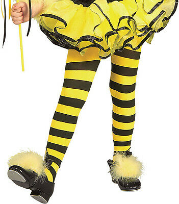 Black Child Striped Stockings (Child Bumblebee Black/ Yellow Striped Tights Stockings Costume)