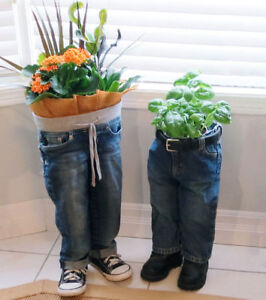 Standing Blue Jean Planters