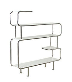 White and Chrome Shelf Unit
