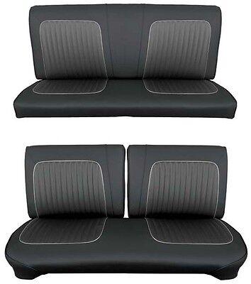 Bench Seat Full Set Upholstery - 64 Falcon Futura Hardtop Full Upholstery Set w/ Split Bench Seat, Black