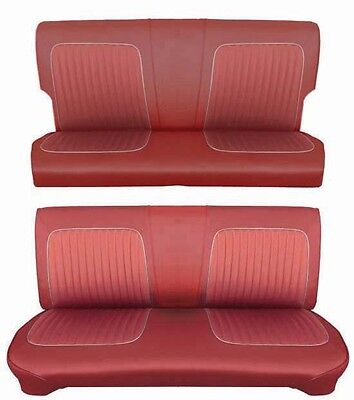 64 Falcon Futura 4 Door Station Wagon Full Upholstery Set w/ Bench Seat, Red Wagon Seat Cover Set