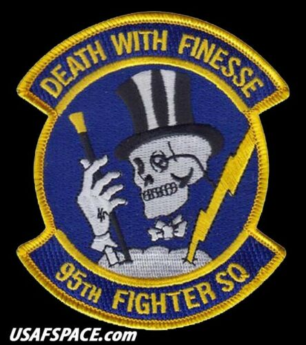 """USAF 95th FIGHTER SQUADRON -TYNDALL AFB, FL - ORIGINAL - 4"""" AIR FORCE VEL PATCH"""