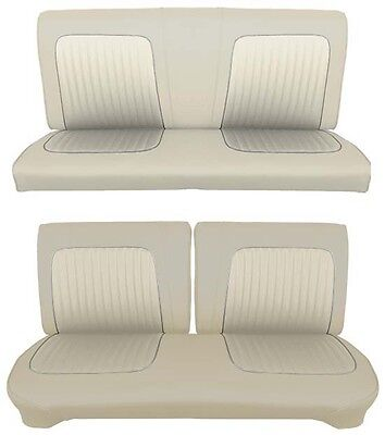 Bench Seat Full Set Upholstery - 64 Falcon Futura 2 Door Sedan Full Upholstery Set w/ Split Bench Seat, Beige