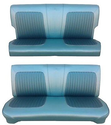 64 Falcon Futura 4 Door Station Wagon Full Upholstery Set, Blue Met., 2 (Two Station Workbench)