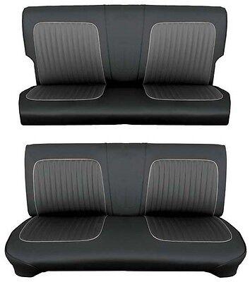Bench Seat Full Set Upholstery - 64 Falcon Futura 4 Door Station Wagon Full Upholstery Set w/ Bench Seat, Black