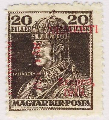 HONGRIE / HUNGARY / UNGARN - SZEGED 1919 Mi.23 20f. Mis-Placed O/P  Neuf / Mint*