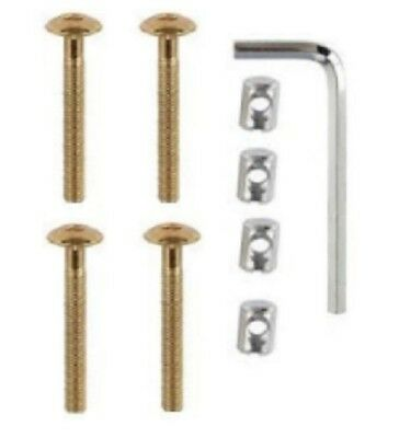 Screw & Nut Kit For Beds Cots Bed Cot Furniture M6 x 50mm Allen Key Include 4PK