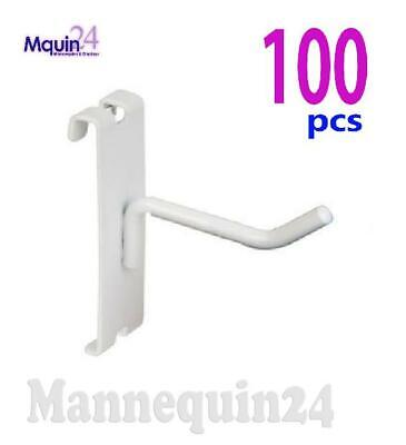 Gridwall Hooks For Grid Wall 2 - 100 Pcs - White - Free Shipping