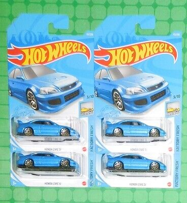 2021 Hot Wheels Factory Fresh #63 - Honda Civic Si  - Lot of 4