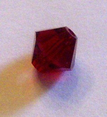 Siam Red Bicone Crystal Beads - Swarovski bicone Austrian crystal beads faceted Siam red Choose package size