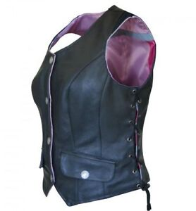 MISSING-LINK-Womens-G2-Reversible-Safety-Vest-Leather-Pink-Nylon-Lace-Up-G2RVP