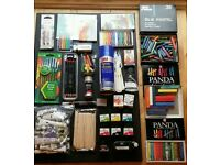 Art materials - Paint, Acrylic, Markers, Brushes, Oil Pastels, Inks, Crayons, Charcoal, Sprays