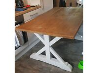 Next Home Wooden Top Dining table Extendable Upcycle