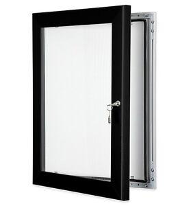 A3 black outdoor lockable display case box poster menu notice board advertising ebay for Exterior display case