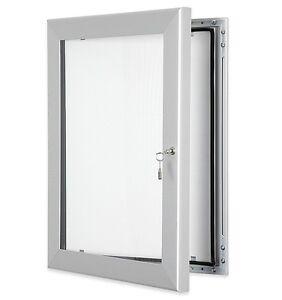 A1 (8xA4) Outdoor Lockable Pinnable External Notice Board with Waterproof Seal