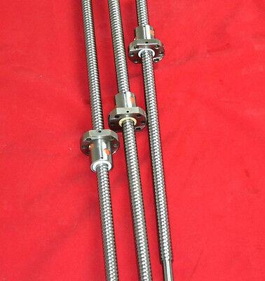 3 Anti Backlash 16mm Ballscrew Rm1605-3506501300mm-c7ball Nutend Machine Cnc
