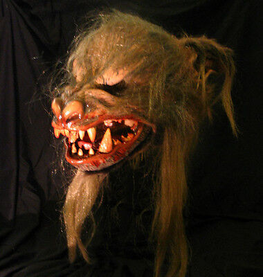 Giant Werewolf Brown KIck Ass Wolf Latex Halloween Mask with Moving Mouth
