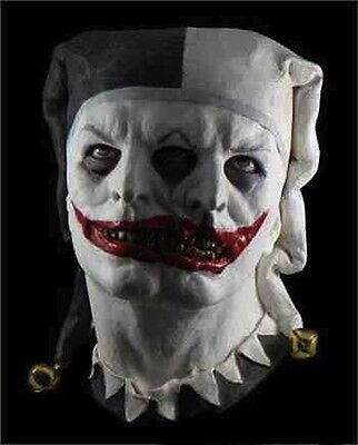 Zwei Gesicht Hofnarr Maske Clown Kostüm Halloween Latex Ganzer Kopf Zombie