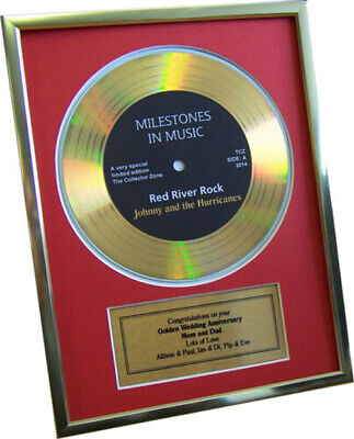 Silver Wedding Anniversary Ideas (Personalised Framed Gold Record Disc Silver Golden Wedding Anniversary Gift)