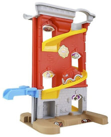 """Little Tikes 22"""" Tall Big Adventure Fire Station Standing Playset with Fire Trucks"""
