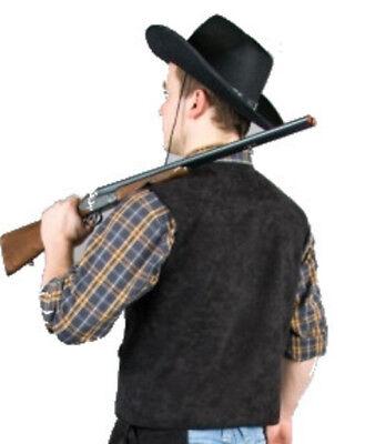 schwarze Cowboy Weste Western Cowgirl Saloon Kostüm untersch. - Saloon Cowboy Kostüm
