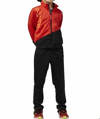 Reebok chandal infantil AY9655 negro con rojo para niños talla xs