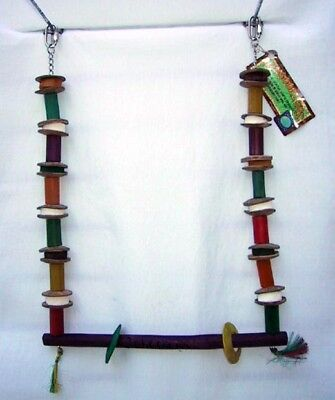Parrot Toy Planet Pleasures Bird Swing Medium Bamboo Coconut Sisal Cuttlebone