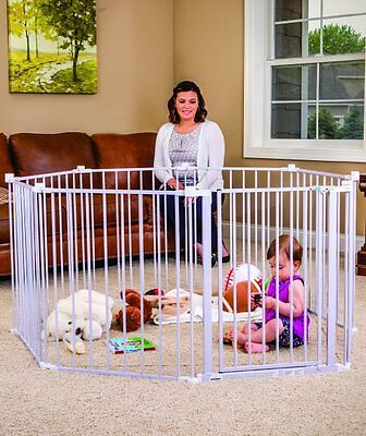 Big Metal Play Yard Playpen Baby Pet Dog Enclosure Gate Steel Large Fence Pen