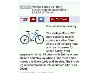 Elbrus vertigo mens bike