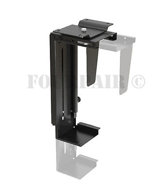 Adjustable Wall or Under Desk CPU PC Computer Case Tower Swivel Mount Holder NEW ()