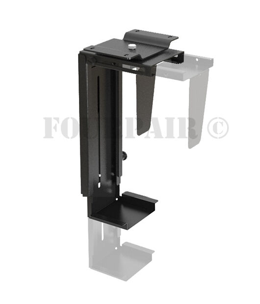 Adjustable Wall or Under Desk CPU PC Computer Case Tower Swivel Mount Holder NEW