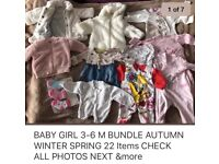 BABY GIRL CLOTHES 3-6 Months vgc