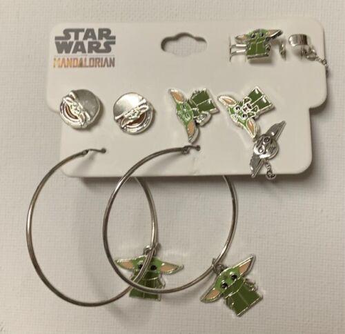 Star Wars The Mandalorian STUD HOOP and CUFF Grogu Earring Set