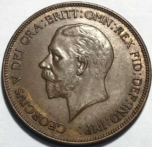 GREAT BRITAIN - George V - Penny - 1928 - Gem Brilliant Uncirculated