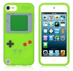 Nintendo Gameboy Soft Rubber Silicone Gel Case Cover Skin for iPod Touch 5th Gen