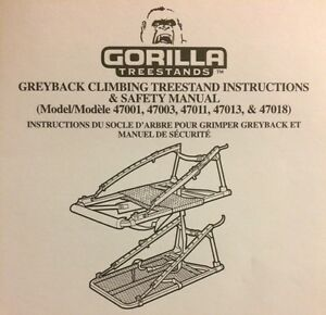 Gorilla Greyback Climbing Treestand