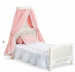 American Girl Samantha's Canopy Doll Bed and Bedding
