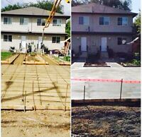 Concrete pads, garages shops you name it! Free quotes!