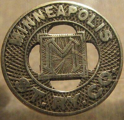 1920 Minneapolis, MN St. Ry. Co. Transit Trolley Token - Minnesota Minn.