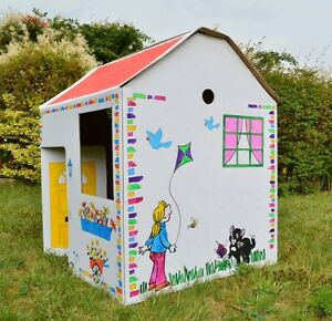 POP-UP WENDY HOUSE - LARGEST ON EBAY! CARDBOARD COLOUR IN CHILD HOUSE! FREE P&P!