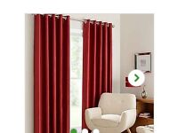Red eyelet curtains. Width 66 drop 72. Excellent condition.