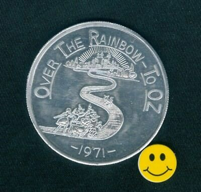 WIZARD OF OZ - Over The Rainbow To Oz - Mardi Gras Doubloon Token 1971 ()