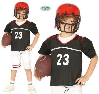 Childs American Football Fancy Dress Costume Kids Boys Quarterback Outfit New fg - Boys Football Costume