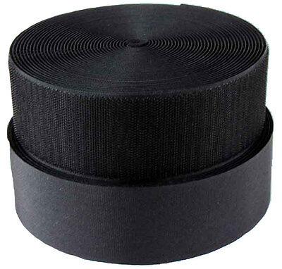 1 Inch Black Sew on Hook and Loop Velcro® Brand, 5 Yards