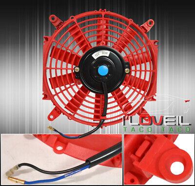 "14"" Red Motor Engine Radiator Cooling Electric Pull Push Fan + Zip Tie Mounting, usado comprar usado  Enviando para Brazil"
