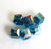 8mm Faceted Glass Beads